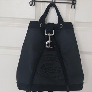 🐊 Lacoste Black Backpack